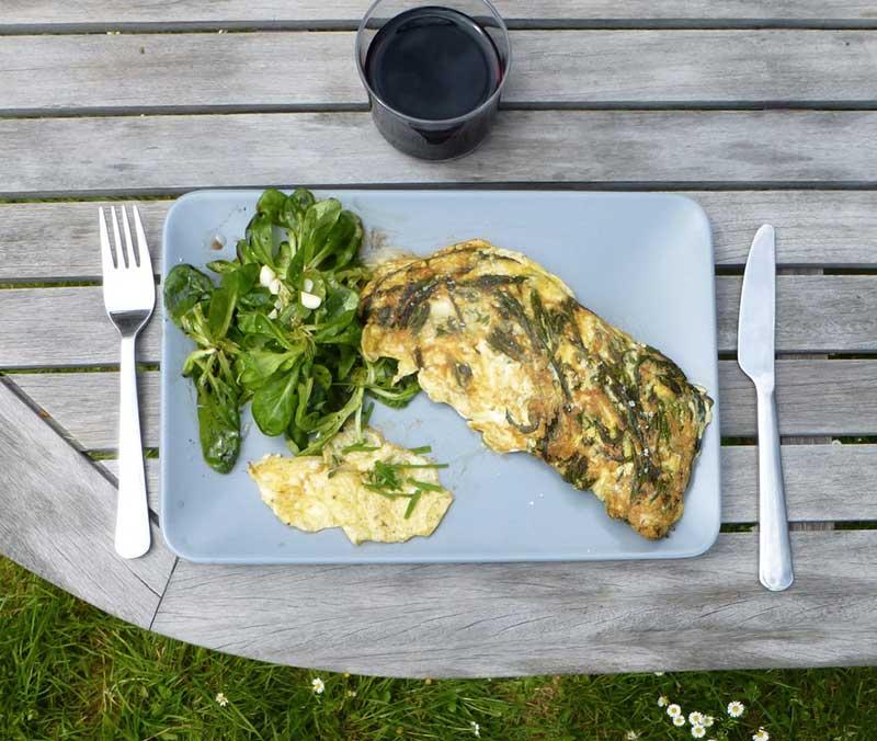 Omelette aux respounchous