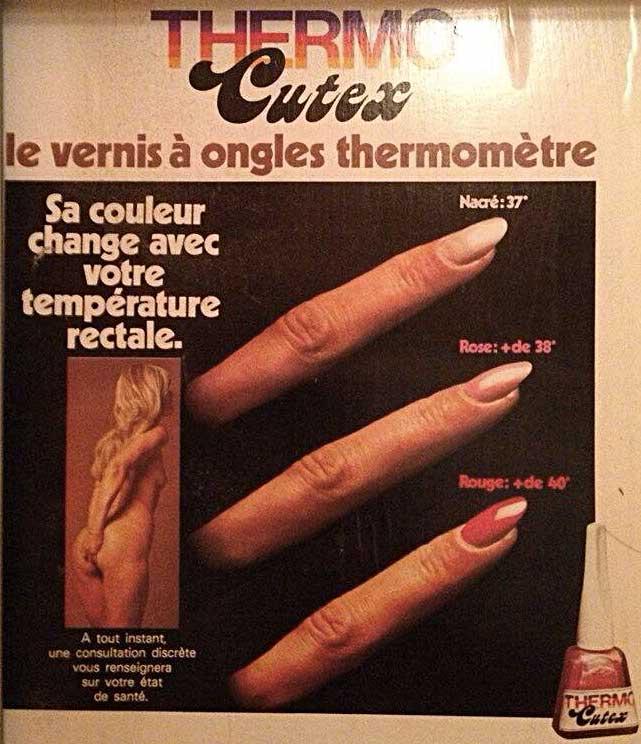 Le vernis thermomètre