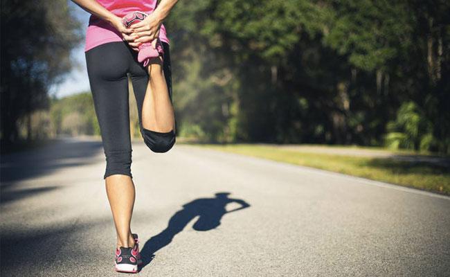 étirement pour la course à pieds