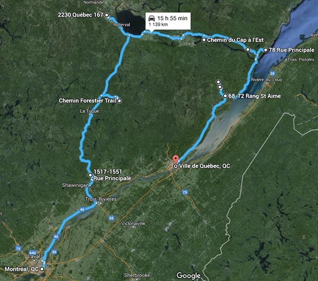 Voyage au Québec - Canada